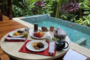 Breakfast in our villa